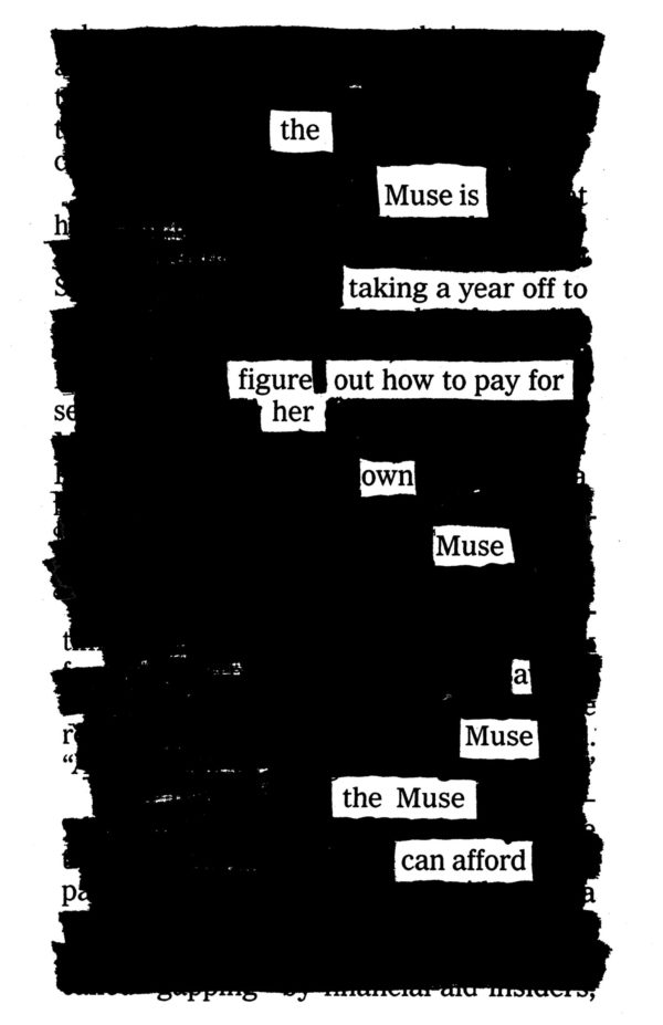 Páginas de Newspaper Blackout Poems. Derechos: Austin Kleon